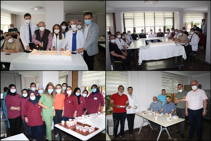 Anadolu Hastanesi  15. YILINI  pasta keserek kutladı